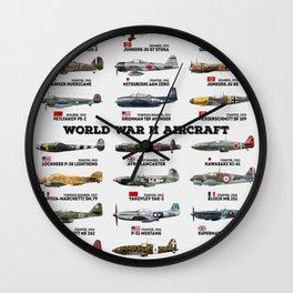 World War II Aircraft Wall Clock