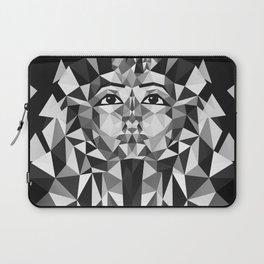 Black and White Tutankhamun - Pharaoh's Mask Laptop Sleeve