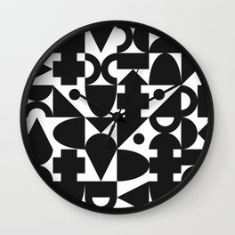 Blocks | B&W Wall Clock