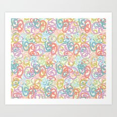 Colored pattern Art Print