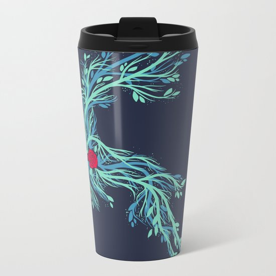 Spirit Vines (Dark Blue) Metal Travel Mug