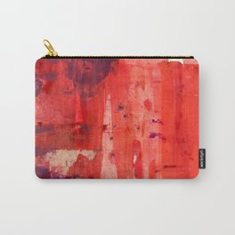 Desert Sun [9]: a pretty, minimal, abstract piece in red, pink, and purple Carry-All Pouch