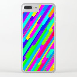 Rainbow Streaks Clear iPhone Case