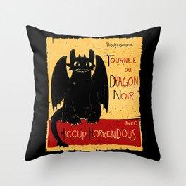 Dragon noir Throw Pillow
