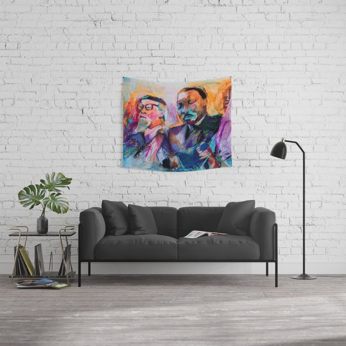 Heschel and King, Bright Wall Tapestry
