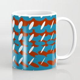 elipse grid pattern_burgundy,blue Coffee Mug