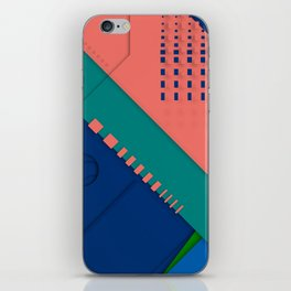 Color material design, paper layers with dynamic halftones iPhone Skin