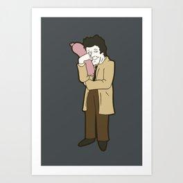 Columbo and his sausage Art Print