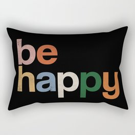 be happy colors rainbow Rectangular Pillow