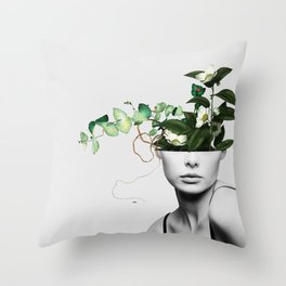 LADY FLOWERS XIII Throw Pillow