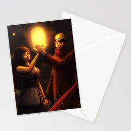 NaruHina Lanterns Stationery Cards