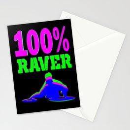100% RAVER Stationery Cards