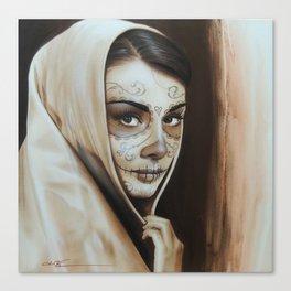 'Hepburn De Los Muertos' Canvas Print
