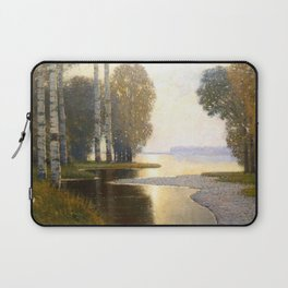 Landscape with Birches by Vilhelms Purvītis - Latvian Lettish Fine Art - Purvitis Laptop Sleeve