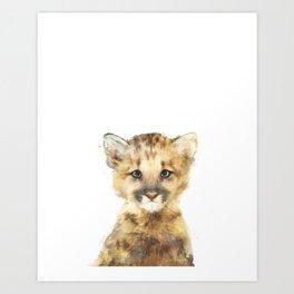 Little Mountain Lion Art Print