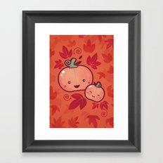 Fall Frolic (in orange) Framed Art Print