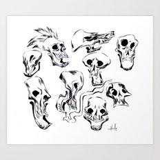 Skull Skull Skulls Art Print