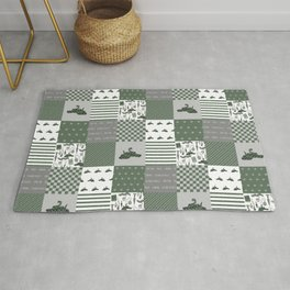 Snake House cheater quilt patchwork wizarding witches and wizards Rug