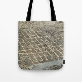 Vintage Pictorial Map of Knoxville (1871) Tote Bag