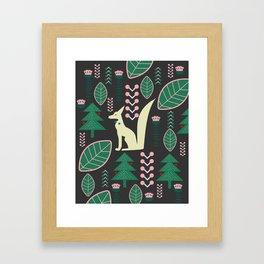 Traditional Christmas festival with fox Framed Art Print