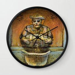 Man and his Barrel Wall Clock