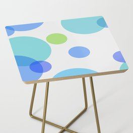 Blue Circles Side Table