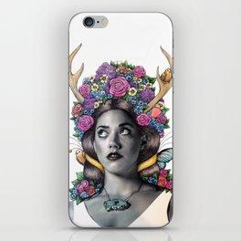 Flowered Prongs iPhone Skin