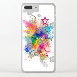 Color blobs by Nico Bielow Clear iPhone Case
