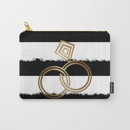 Gold Wedding Rings Carry-All Pouch