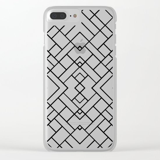 PS Grid 45 Clear iPhone Case