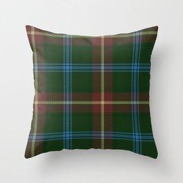 Tartan Of Manitoba Throw Pillow