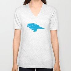Little bird origami Unisex V-Neck