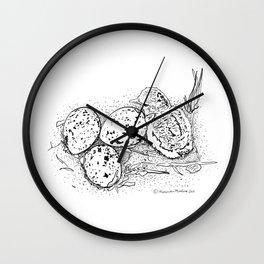 American Oystercatcher nest Wall Clock