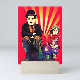 The Tramp and the Kid Mini Art Print