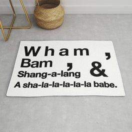 Wham Bam Shang-a-lang - Helvetica List Rug