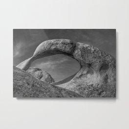 Mobius Arch Monochrome Metal Print