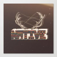 native Canvas Prints featuring Native by Pilgrim