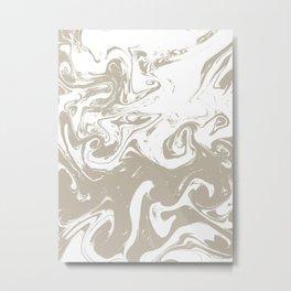 Spilled ink suminagashi marble marbled pattern minimal japanese pattern Metal Print