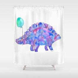 Tie Dye Stegosaurus with Balloon Shower Curtain