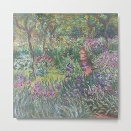 Monet's garden at Giverny Metal Print