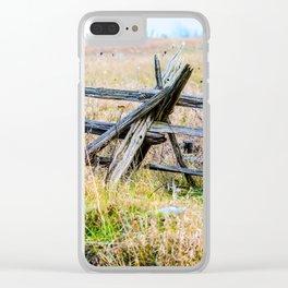 Split Rail Clear iPhone Case