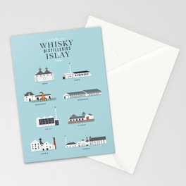 Whisky Distilleries of Islay Stationery Cards