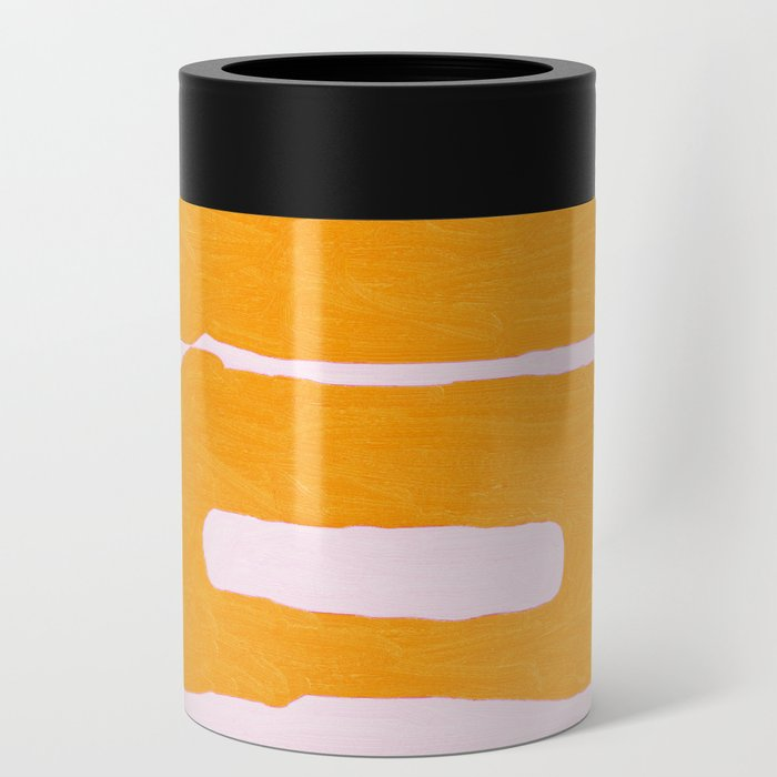 Abstract in Yellow and Cream Can Cooler