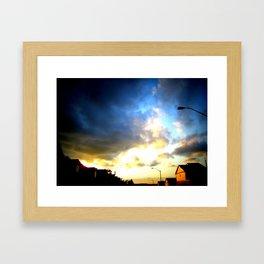 Storm over Suburbia Framed Art Print