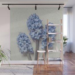 Light Blue Hyacinths Wall Mural