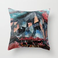 melbourne Throw Pillows featuring Melbourne by sladja