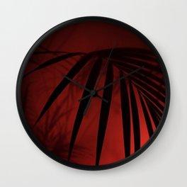 Night Palm Wall Clock
