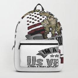 i'm a Proud U. S. Veteran T-Shirt T-Shirt Backpack