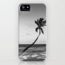 San Pedro Palm B&W iPhone Case