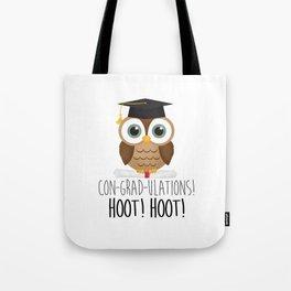 Con-grad-ulations! Hoot! Hoot! Tote Bag